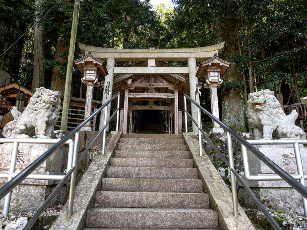 白山神社 岐阜県中津川市下野 二つ目の鳥居