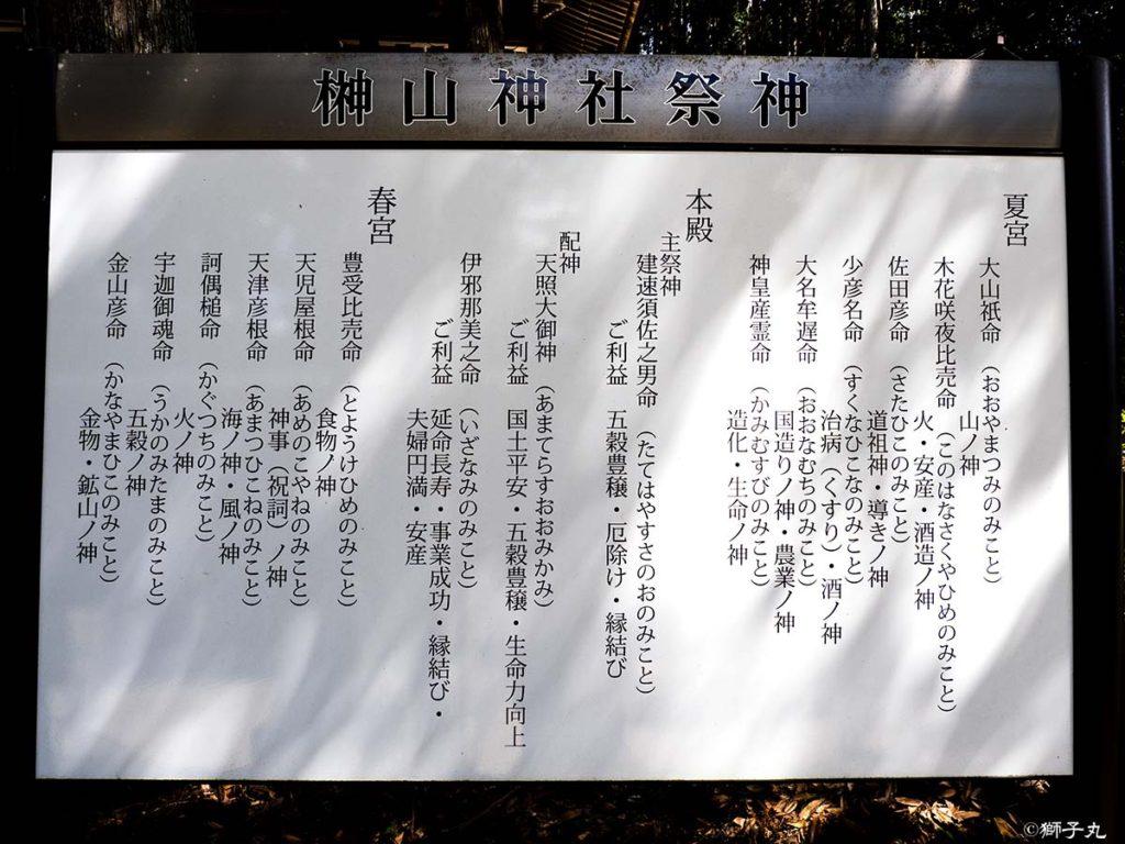榊山神社 御祭神