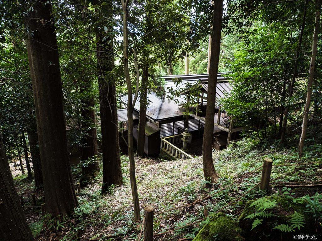 秀吉の切株(一)から常磐神社を望む