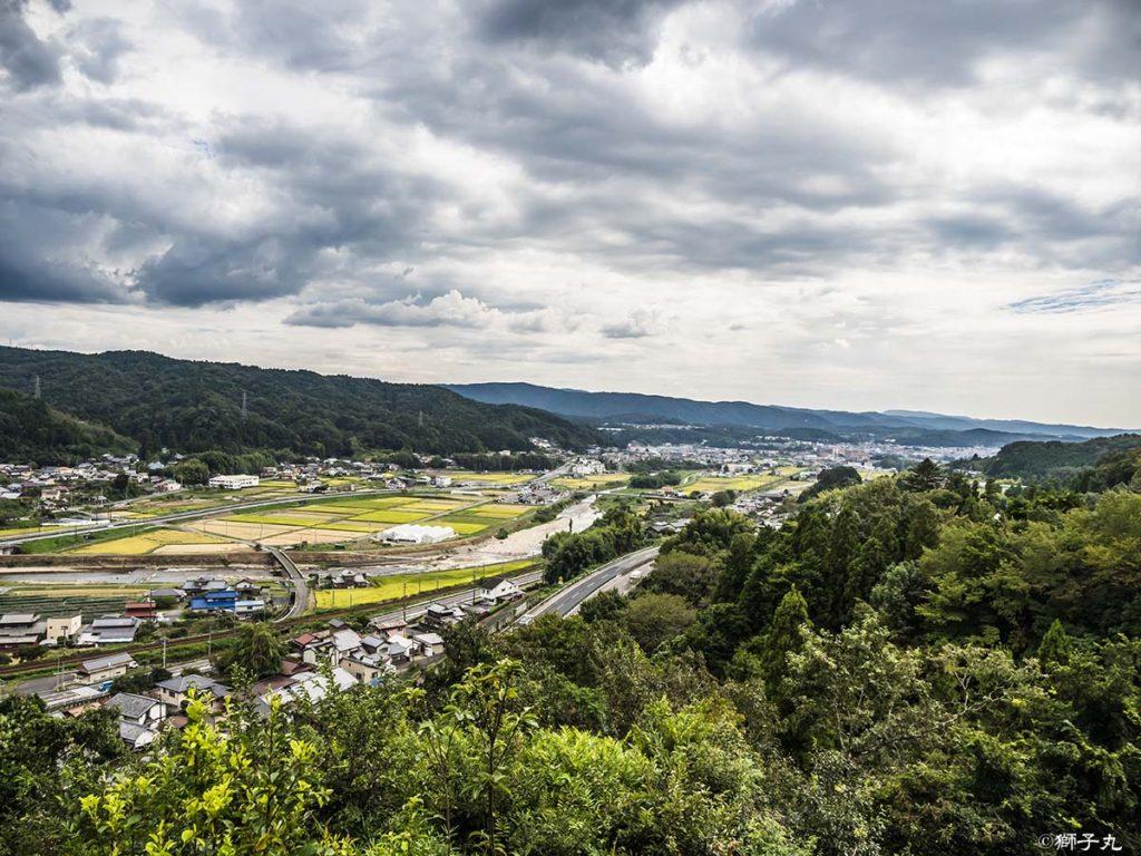 鶴ヶ城跡 中腹からの眺望