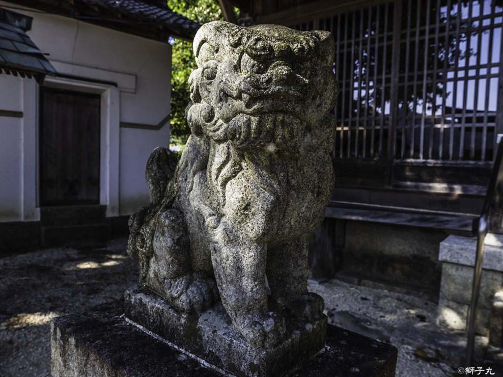 五宮神社(長野県木曽郡南木曽町) 狛犬(吽形)