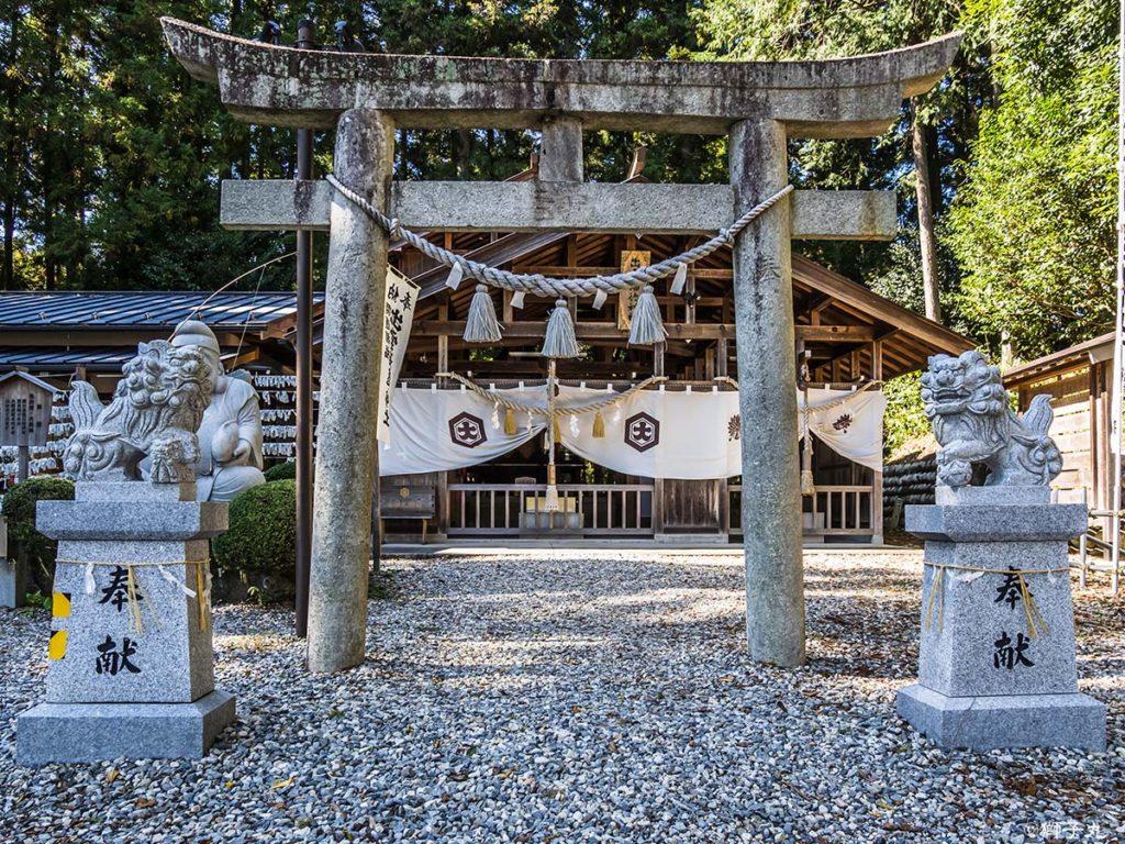 出雲福徳神社 鳥居と狛犬