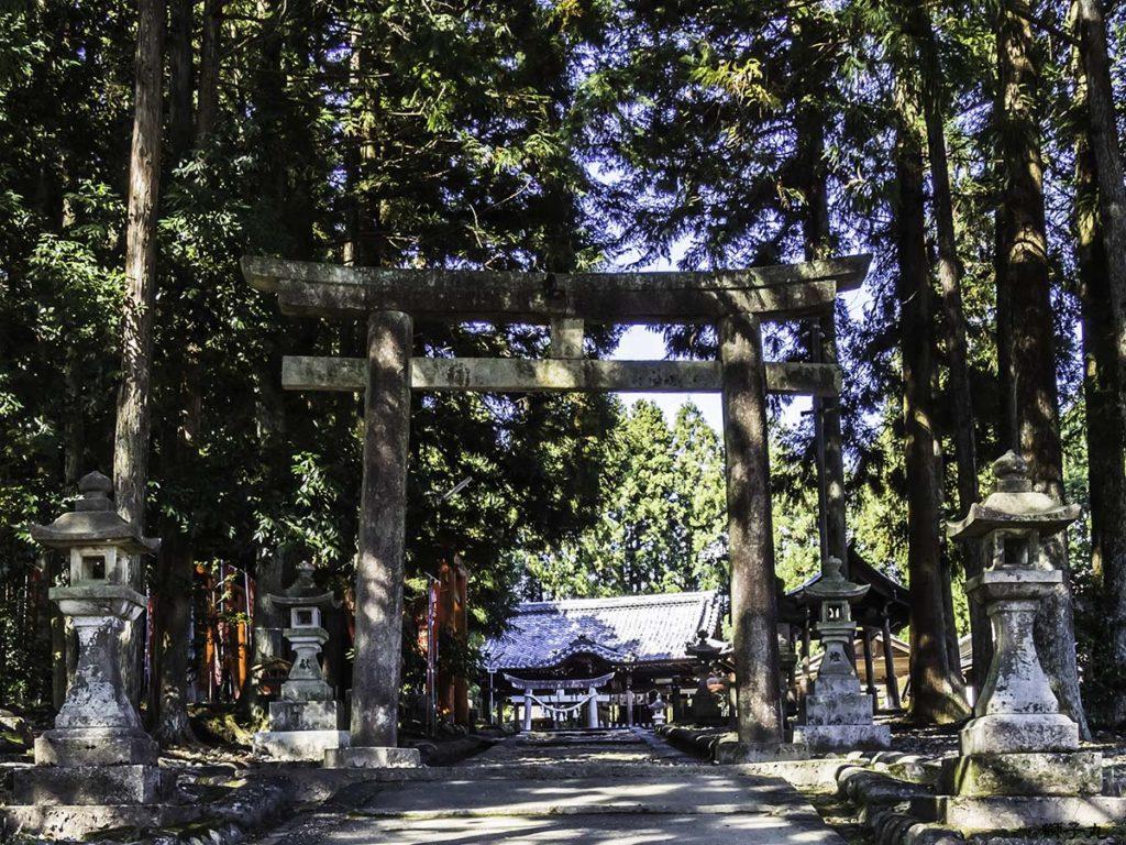 中山稲荷神社(岐阜県中津川市) 坂本神社の鳥居