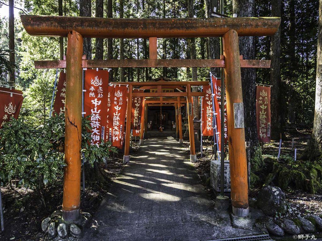 中山稲荷神社(岐阜県中津川市) 鳥居