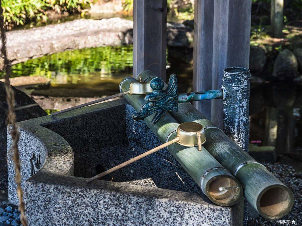坂本神社八幡宮 手水舎