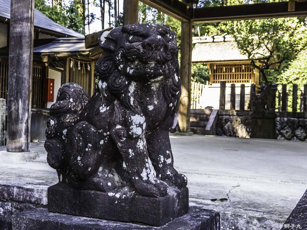 坂下神社 狛犬(吽形)