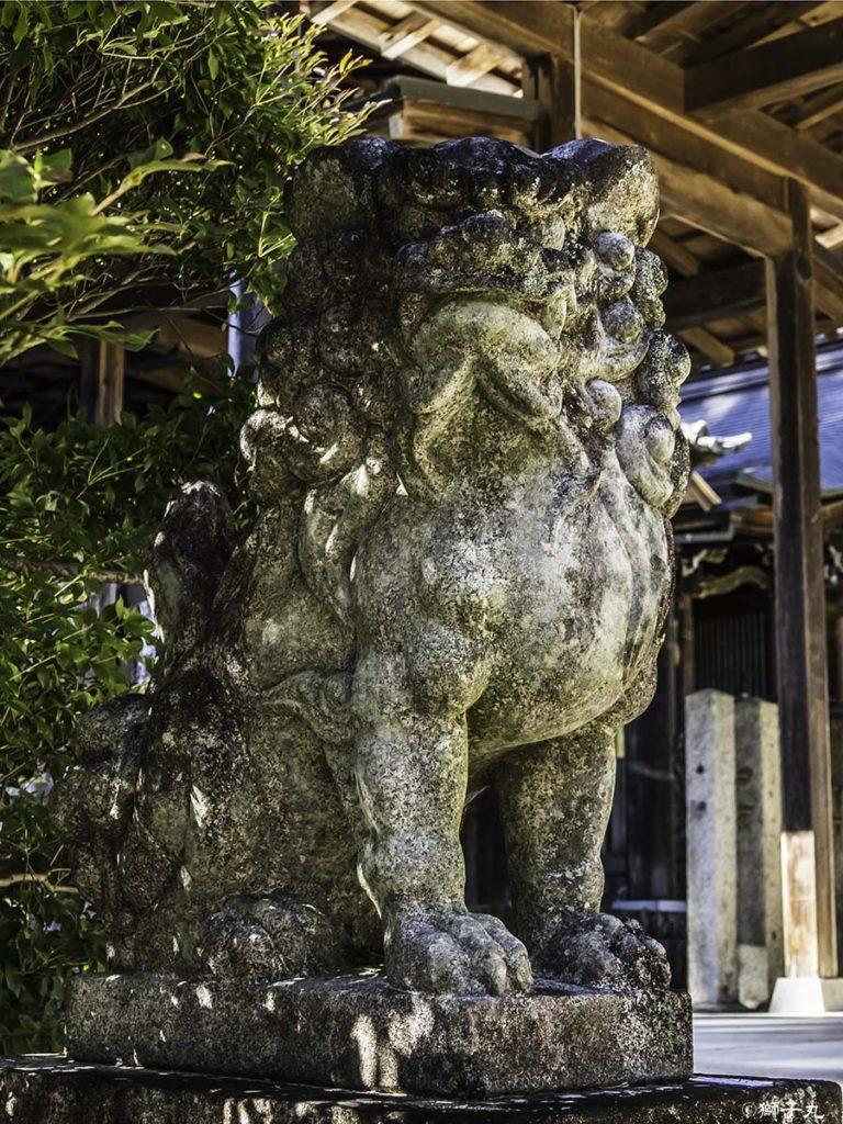 坂下神社 坂下護国神社 狛犬(吽形)