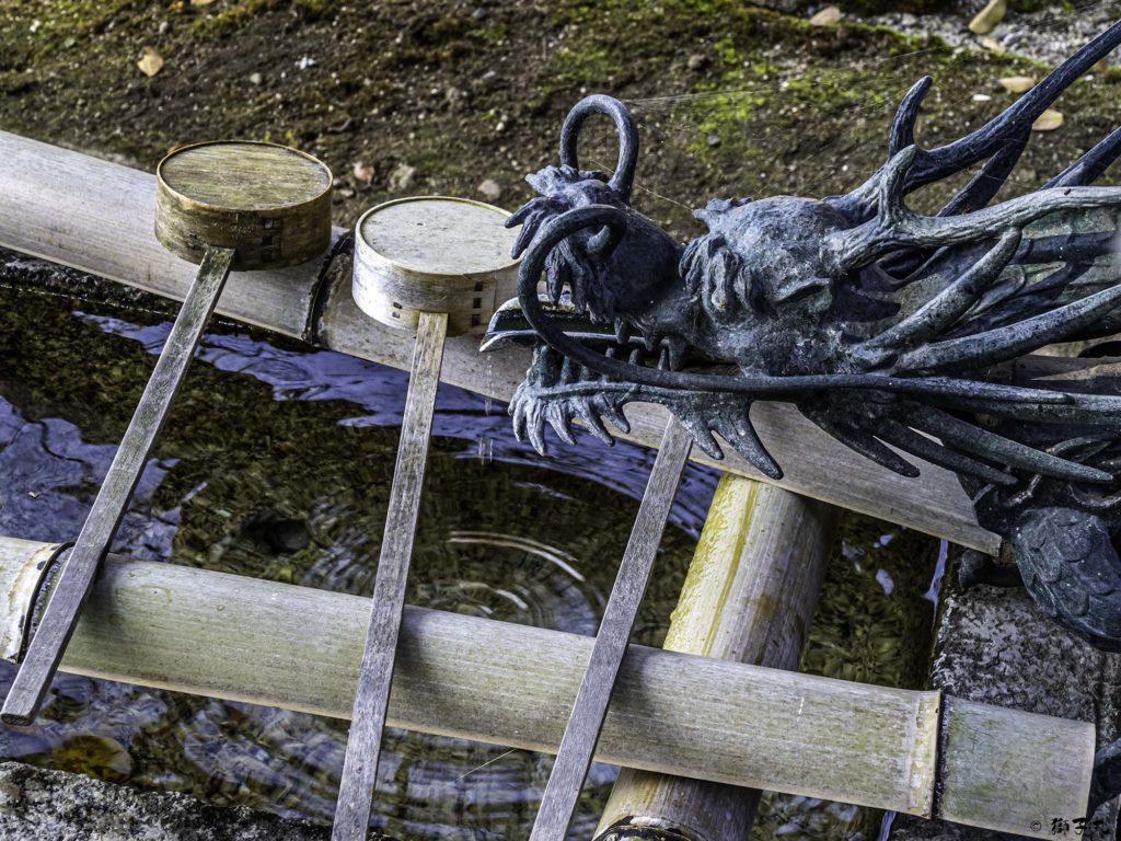 八王子神社 日本大正村 手水舎