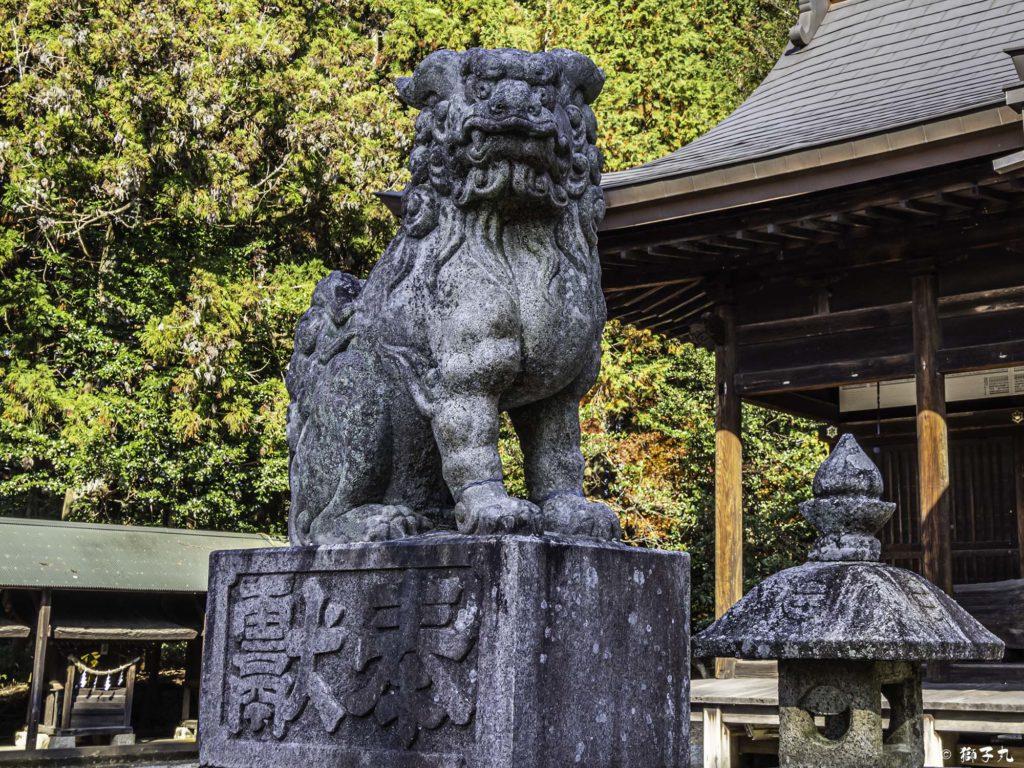 八王子神社 日本大正村 狛犬(吽形)