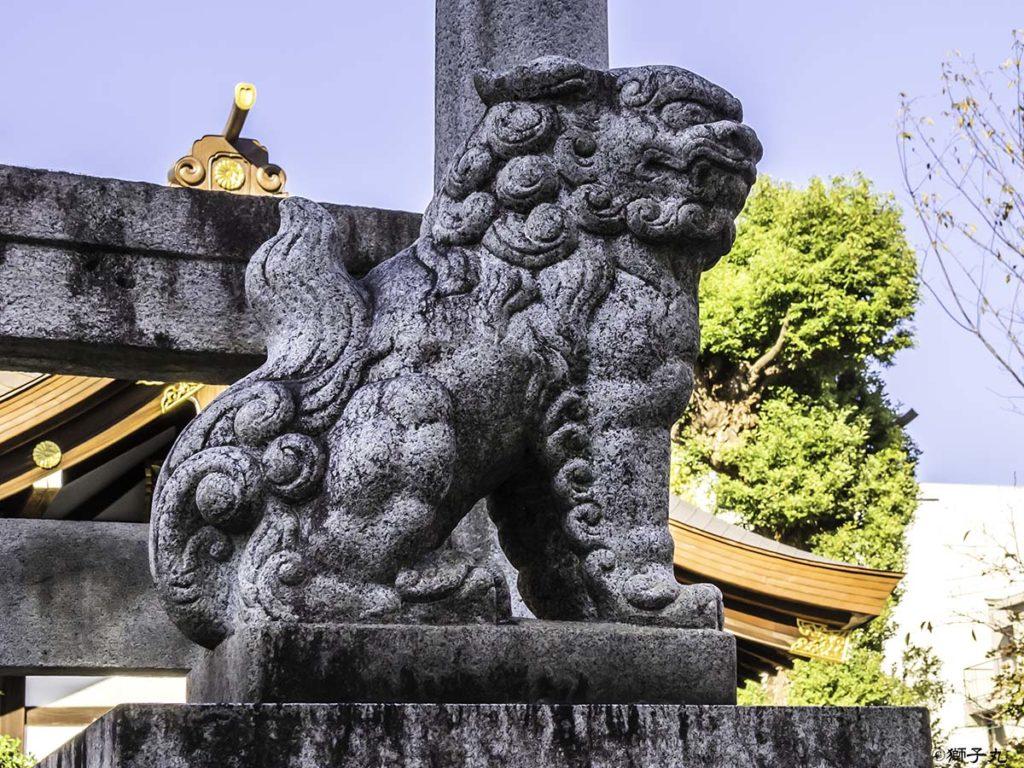 三輪神社(愛知県名古屋市) 狛犬(吽形)