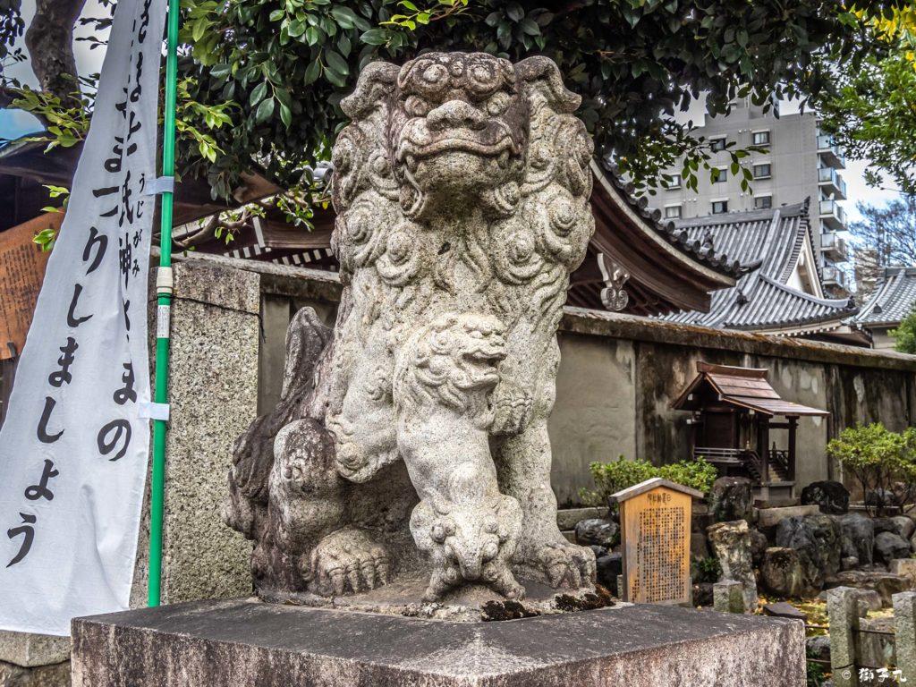 日置神社(名古屋市) 子連れ狛犬