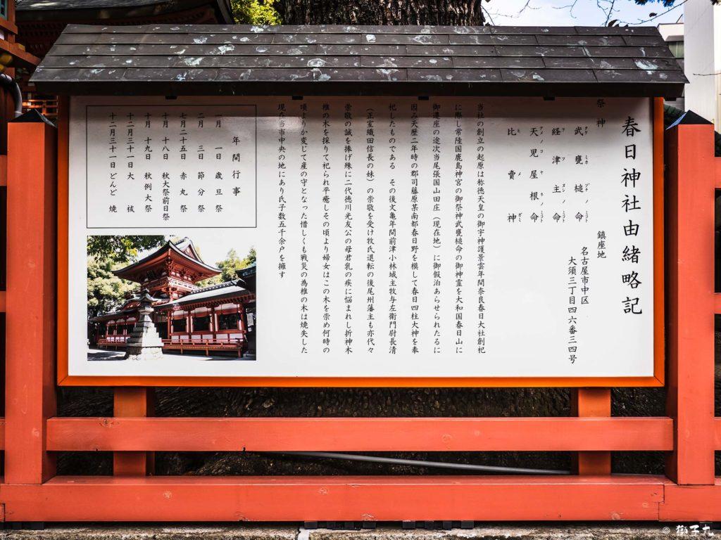 春日神社(愛知県名古屋市中区) 由緒