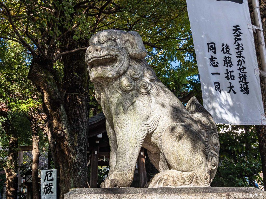 洲崎神社(愛知県名古屋市) 狛犬(阿形)
