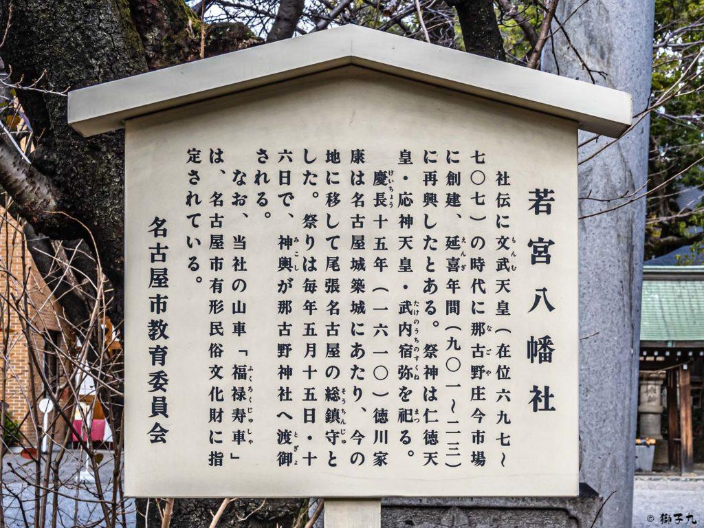 若宮八幡社(名古屋市中区) 案内板