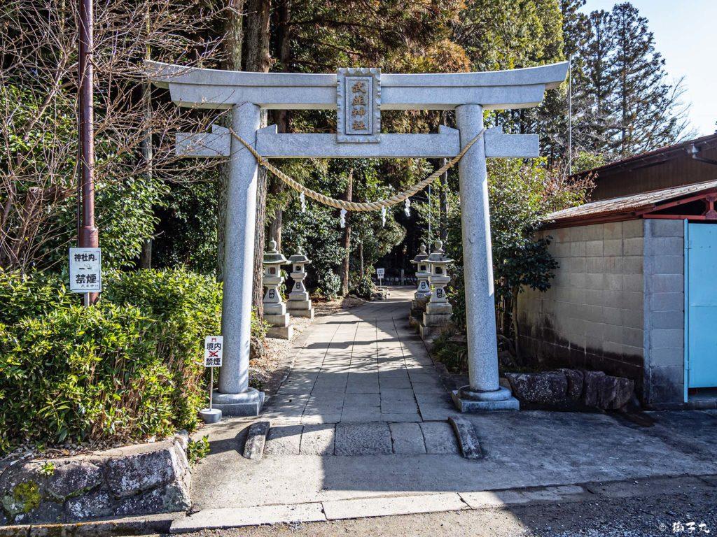 武並神社(恵那市大井町) 西鳥居