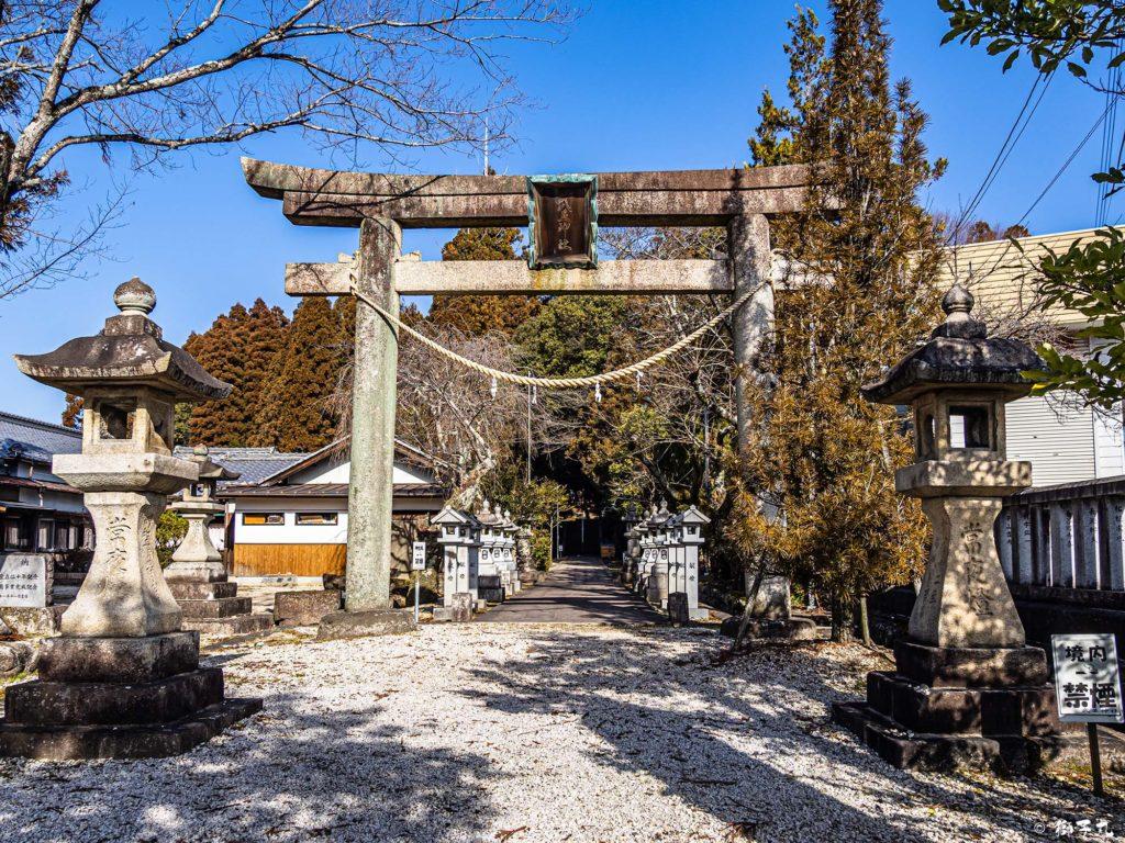 武並神社(恵那市大井町) 正面鳥居