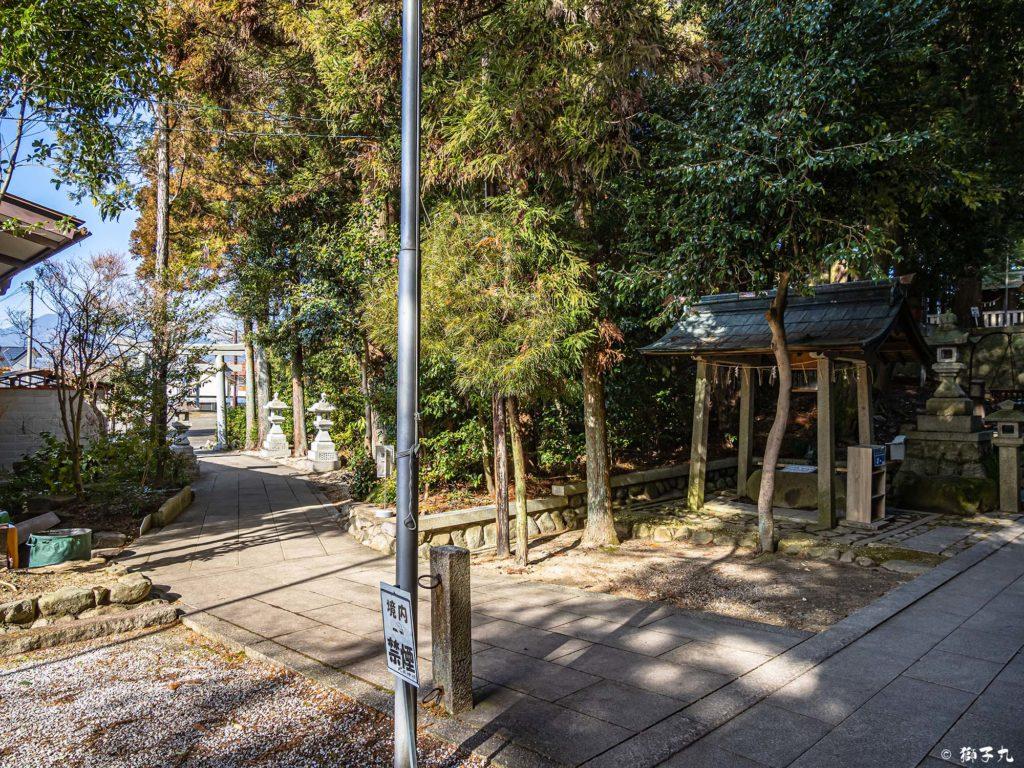 武並神社(恵那市大井町) 参道