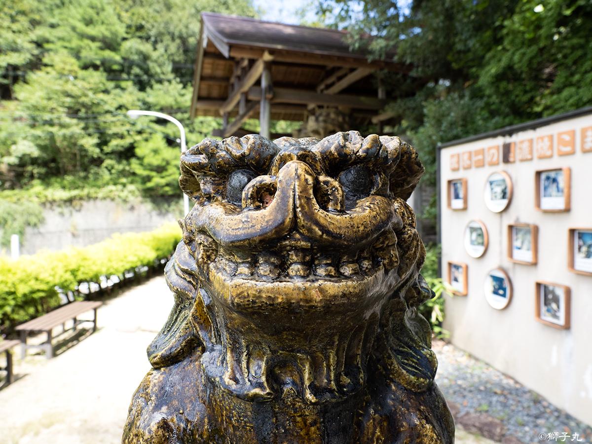 世界一の美濃焼こま犬 入口の狛犬 吽形